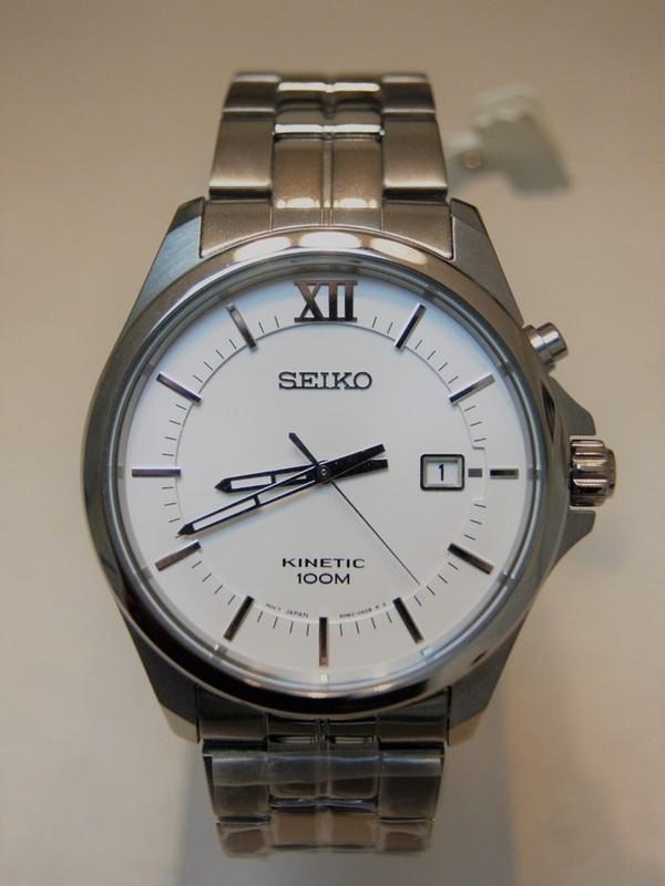 Seiko Movement Japan Kinetic SS Bracelet Romeinse cijfers