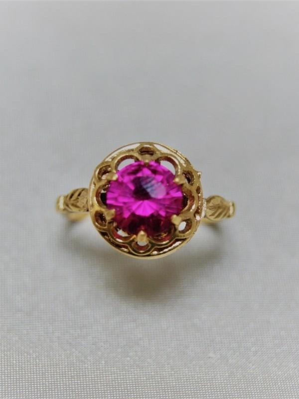 Gouden ring met sprirel