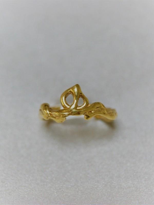 Gouden ring met takkenmotief