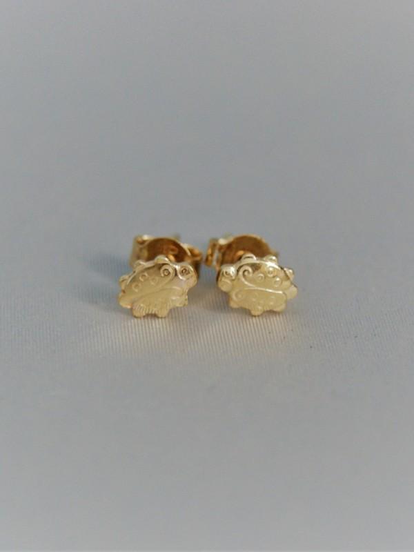 Gouden lieveheersbeestjes oorringen