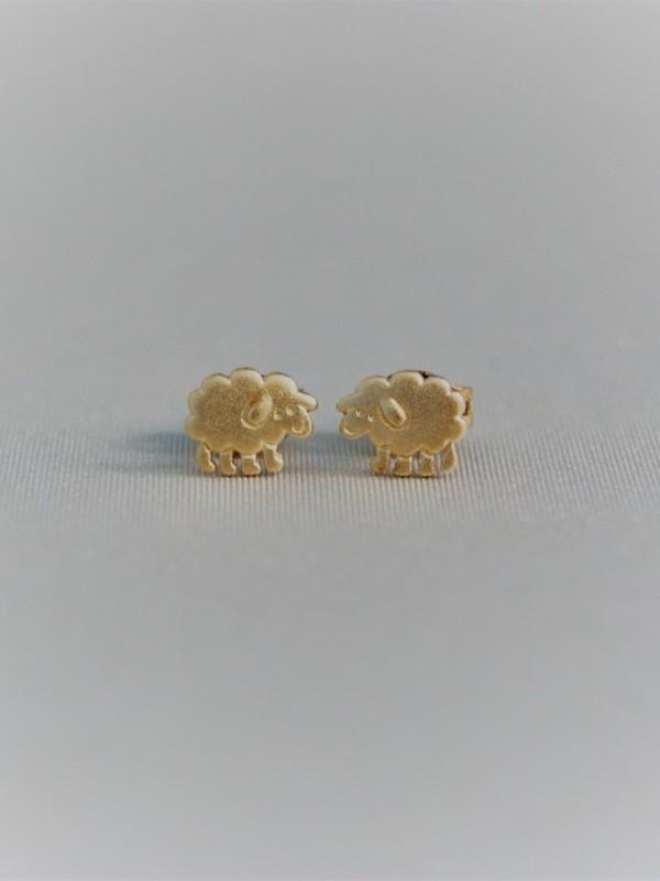 Gouden schaapjes oorringen