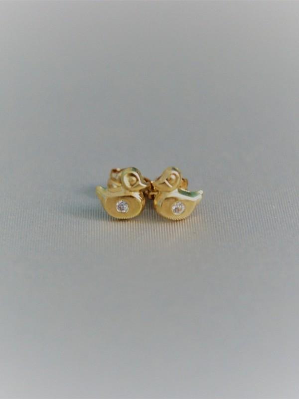 Gouden eendjes oorringen