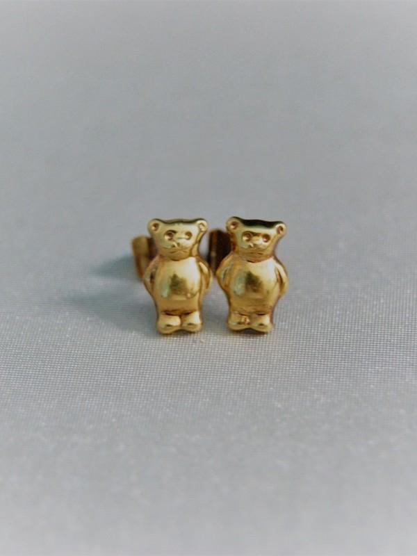 Gouden beertjes oorringen