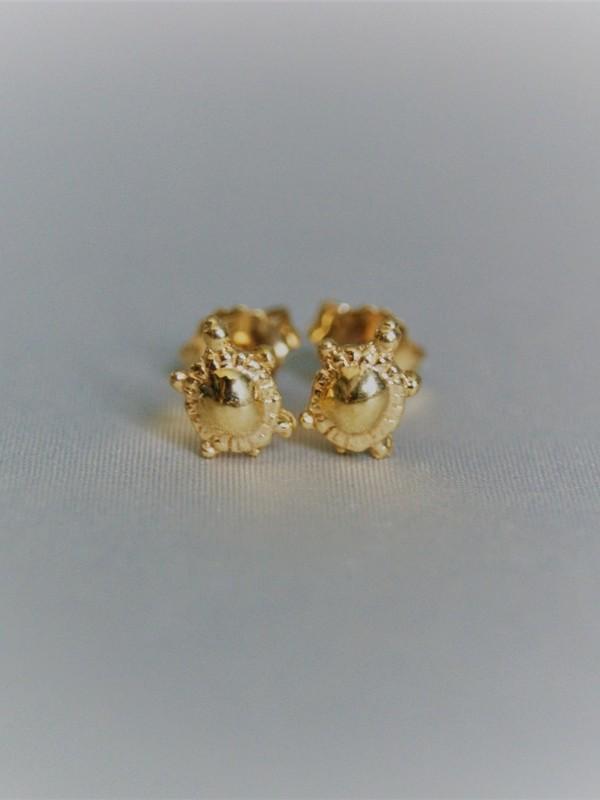 Gouden schildpadjes oorringen