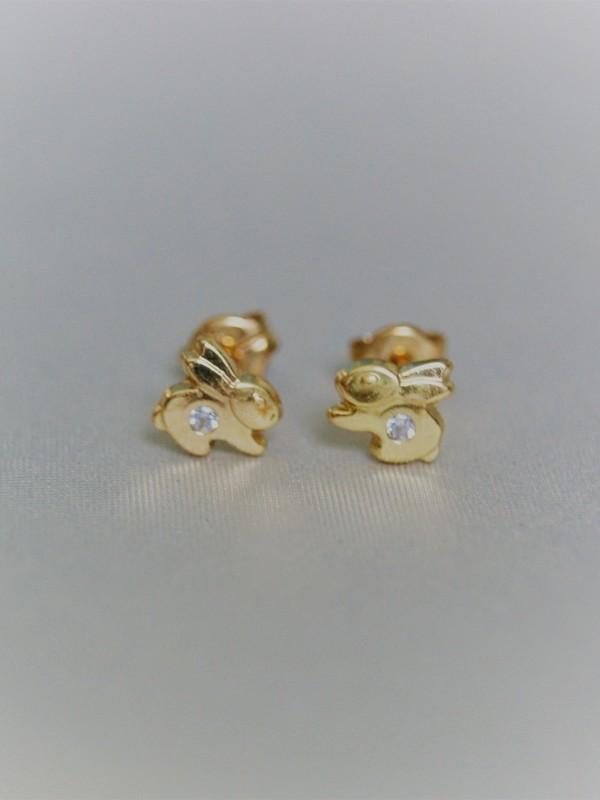 Gouden konijntjes oorringen