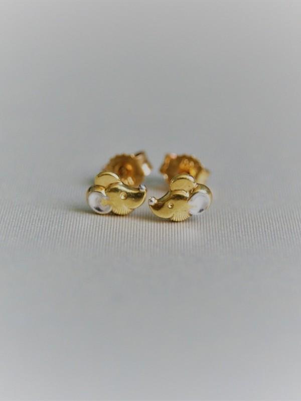 Gouden muisjes oorringen