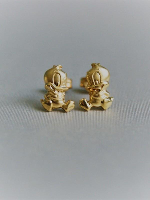 Gouden Donald Duck oorringen