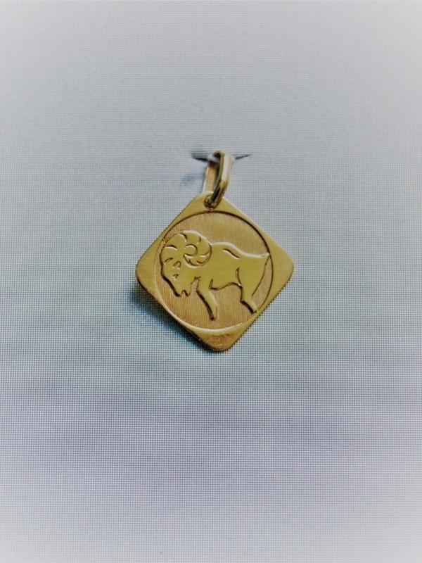Gouden steenbokhanger 1