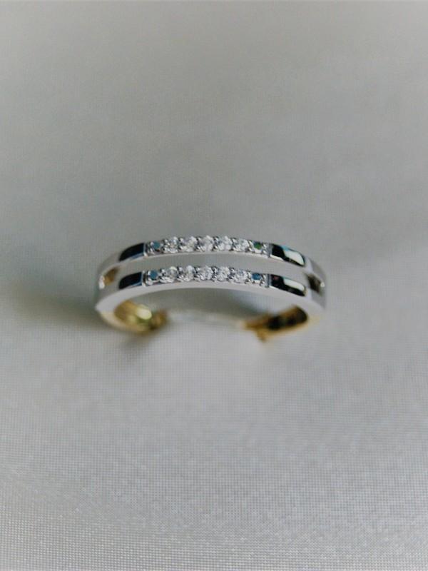 Gouden ring met ingezette zirconia