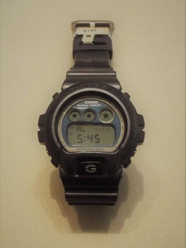 Casio G-Shock Quartz Grijs Kunststof Blauw DW-6900MF