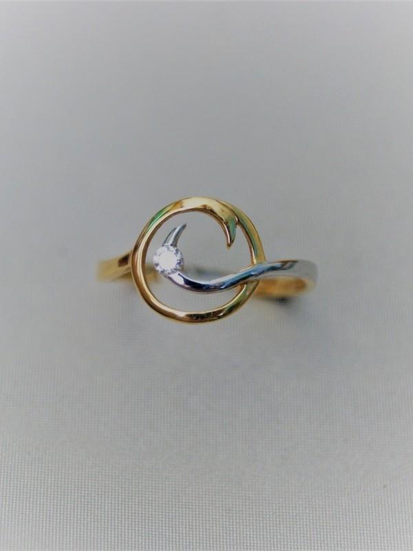 Gouden ring met zirconium