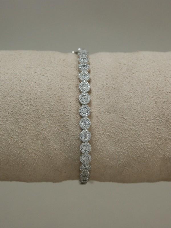 Zilveren armband met zirconia