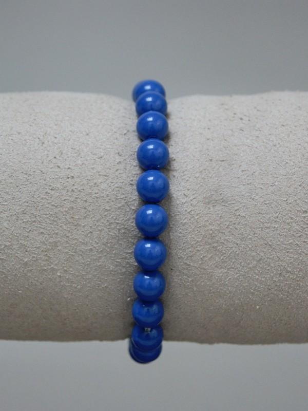 Armband met blauwe parels