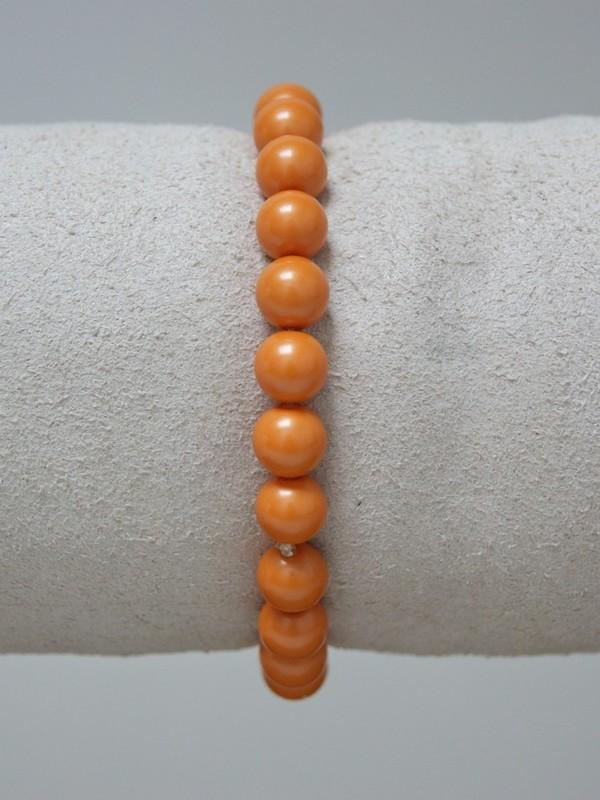 Armband met orange parels