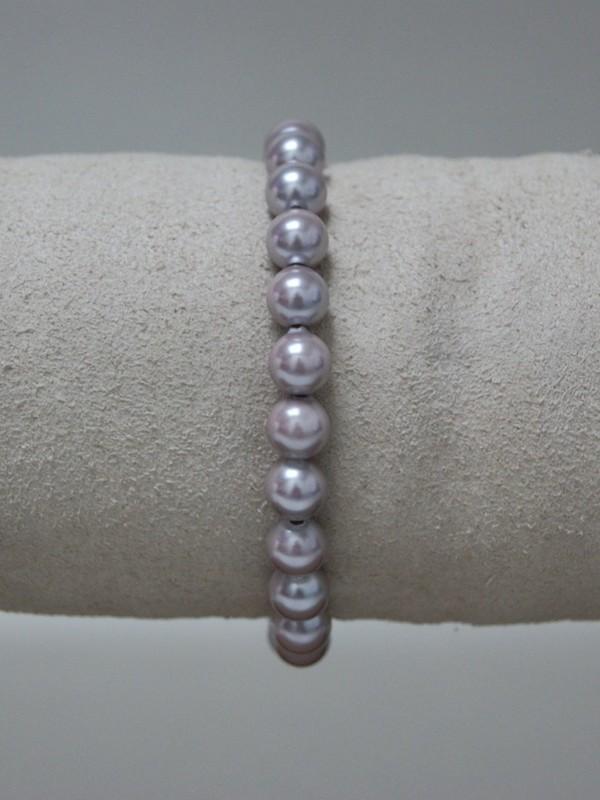 Armband met lichtpaarse parels
