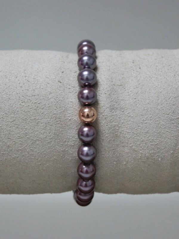 Armband met paarse parels