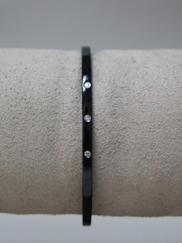 Armband met gladgezette zirconia