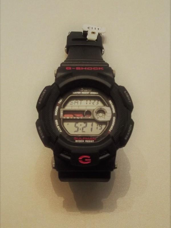 Casio G-Shock Quartz Zwart Kunststof Zwart-rood G-9100