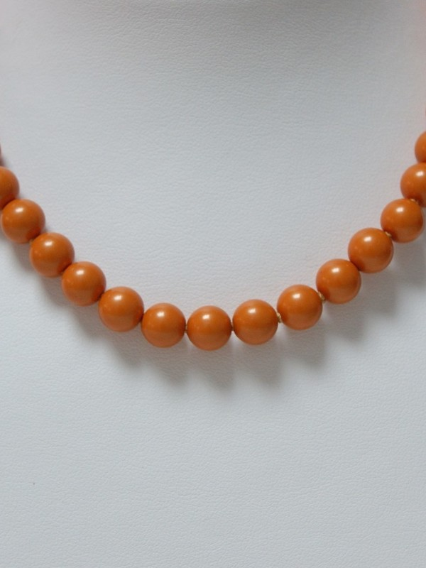 Oranje parelcollier