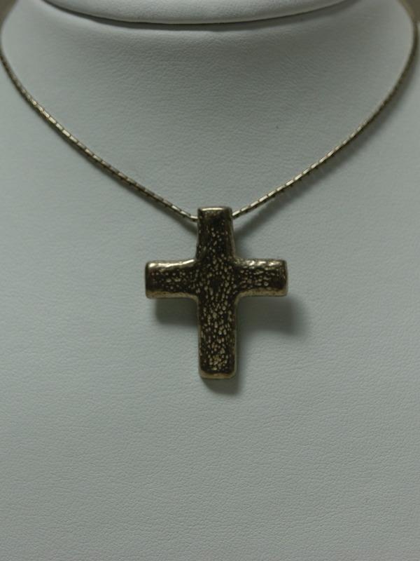 Zilveren collier met kruishanger