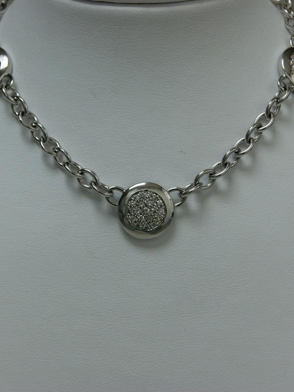 Zilveren collier met ronde hangers