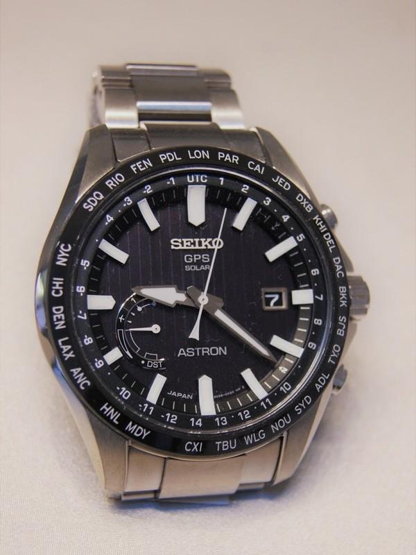 Seiko Astron GPS Solar Staal Bracelet Zwart SSE161J1
