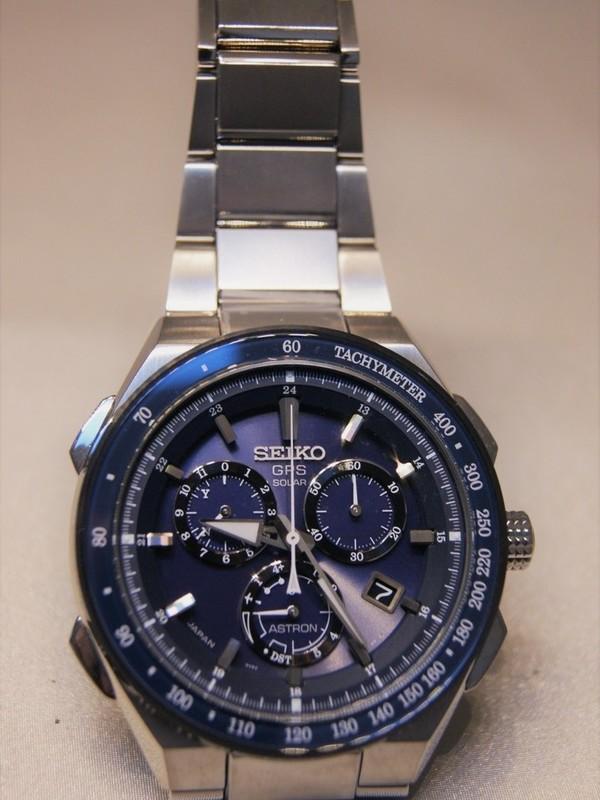 Seiko Astron GPS Solar Titanium Blauw SSE127J1