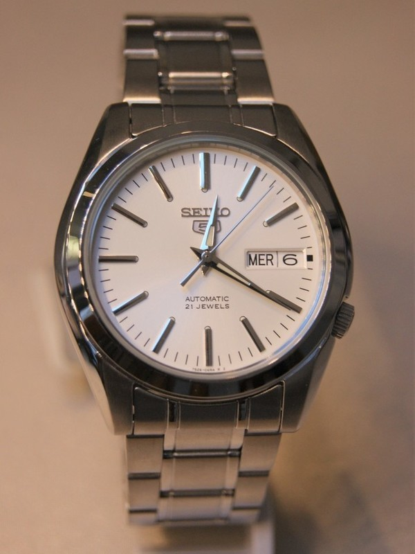 Seiko 5 Sports Automaat Staal Bracelet Wit SNKL41K1