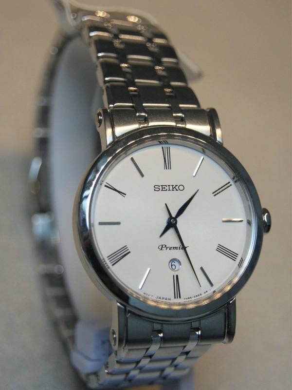 Seiko Quartz Premier Sapphire Staal SS Bracelet Wit SXB429P1