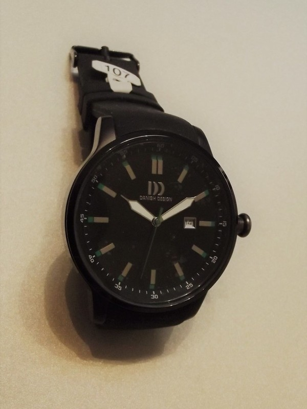 Danish Design Quartz Zwart Leder Zwart IQ28Q997