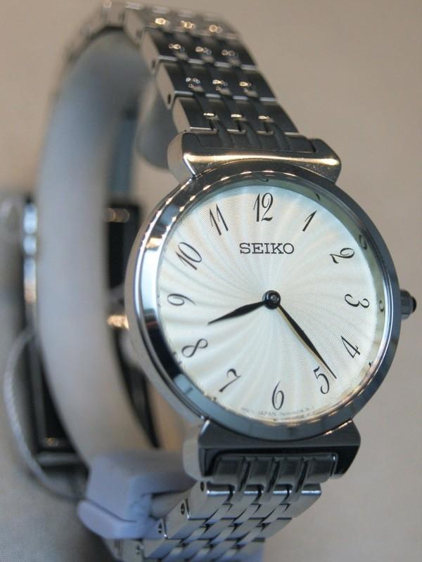 Seiko Quartz Staal SS Bracelet Wit SFQ801P1