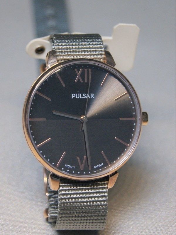 Pulsar Doublé SS Grijs Nylon Grijs PH8452X1