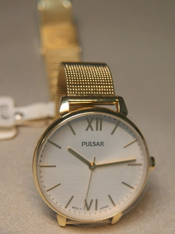 Pulsar Doublé SS Mesh Bracelet Wit PH8446X1