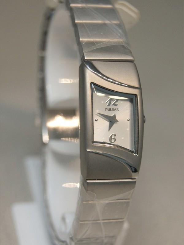 Pulsar Quartz Staal SS Bracelet Wit PEGG63X1