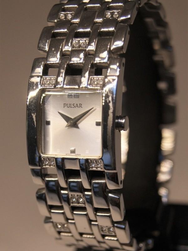 Pulsar Quartz Staal SS Bracelet Wit PTA397X1