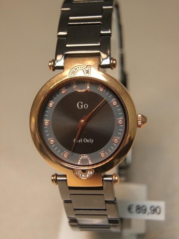 Girl Only Quartz Rosé Donkergrijs Bracelet Zwart 695022