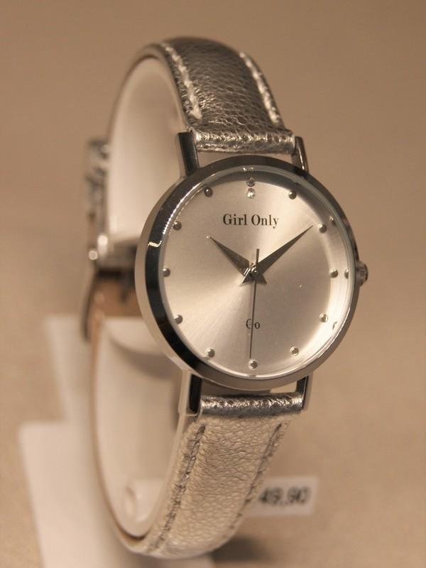 Girl Only Quartz Staal Zilver Leder Zilver 699070