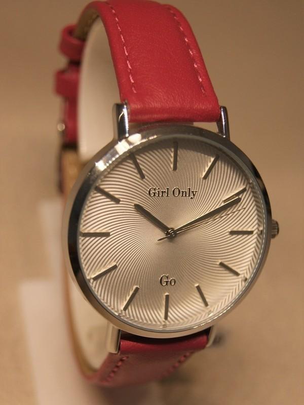 Girl Only Quartz Staal Roze Leder Zilver 699064