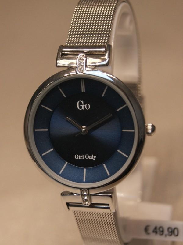 Girl Only Quartz Staal Mesh Bracelet Blauw 695226