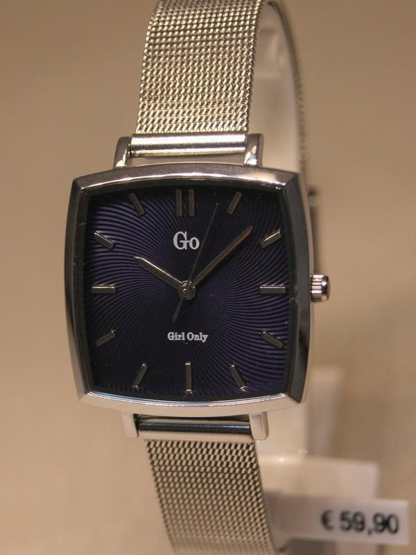 Girl Only Quartz Staal Mesh Bracelet Blauw 695254