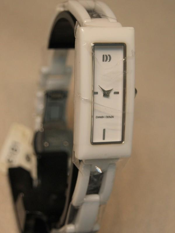 Danish Design Quartz Ceramic Sapphire Wit Bracelet Wit IV62Q1023