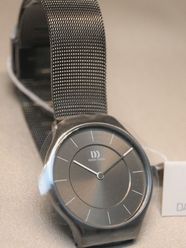Danish Design Quartz Grijs SS Mesh Bracelet Grijs IV66Q1259
