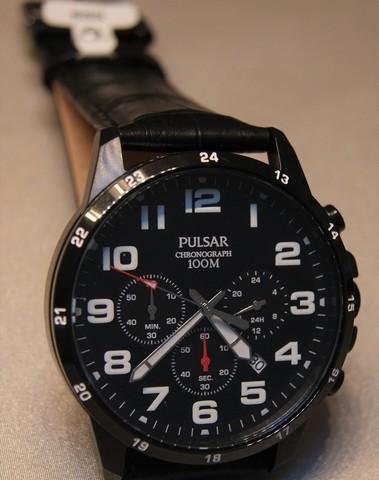 Pulsar Quartz Chronograph Staal SS PT3A0