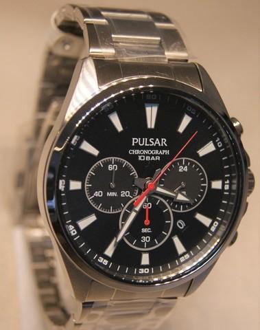 Pulsar Quartz Chronograph Staal SS PT3A