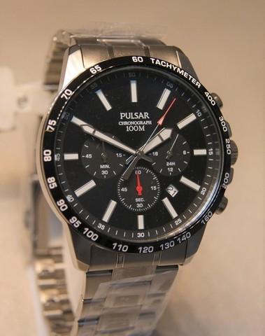 Pulsar Quartz Chronograph Staal SS PT399